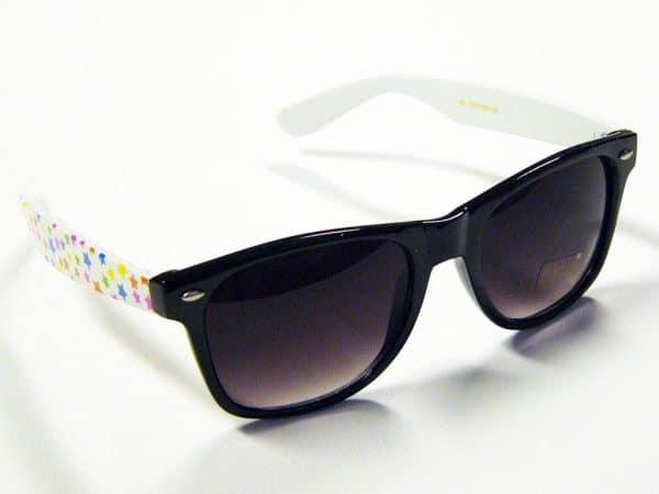 Wayfarer Stars (svart/hvit) - Retro solbrille