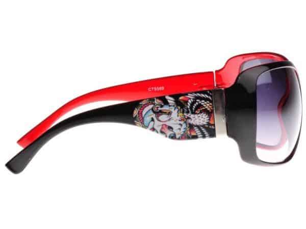 Tattoo Old School (svart/rød) - Tattoo solbrille