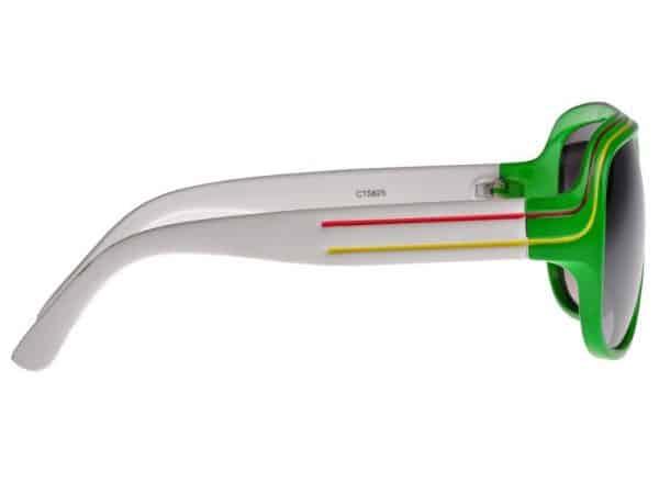 Billionaire Colour (grønn/hvit) - Retro solbriller