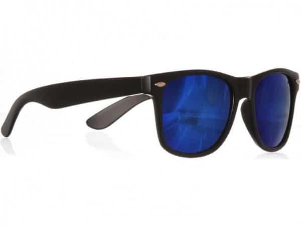 Wayfarer Blue Mirror (svart) solbrille