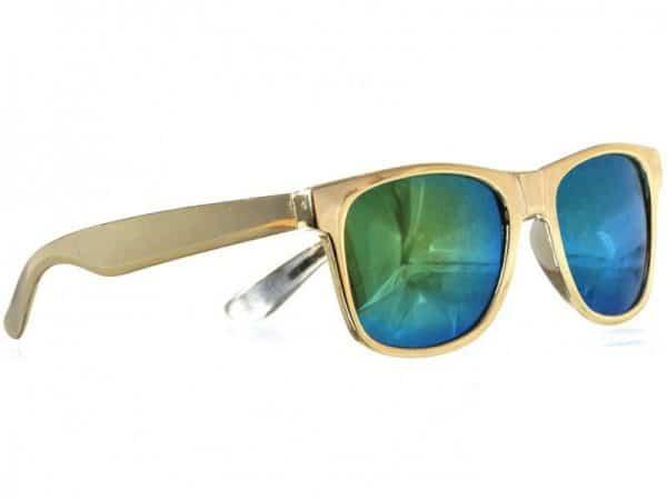 Wayfarer Green Mirror (gold) - Wayfarer solbrille
