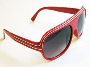 Billionaire Classic (rød/hvit) - Retro solbriller
