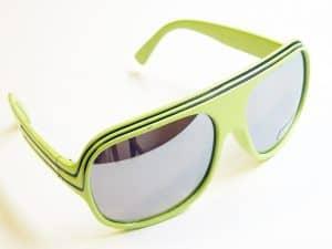 Billionaire Mirror (grønn/svart) - Retro solbriller