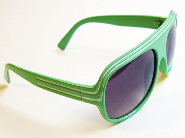 Billionaire Classic (grønn/hvit) - Retro solbriller