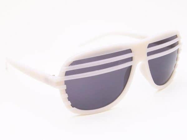 Shutter shades (hvit) - Retro solbrille