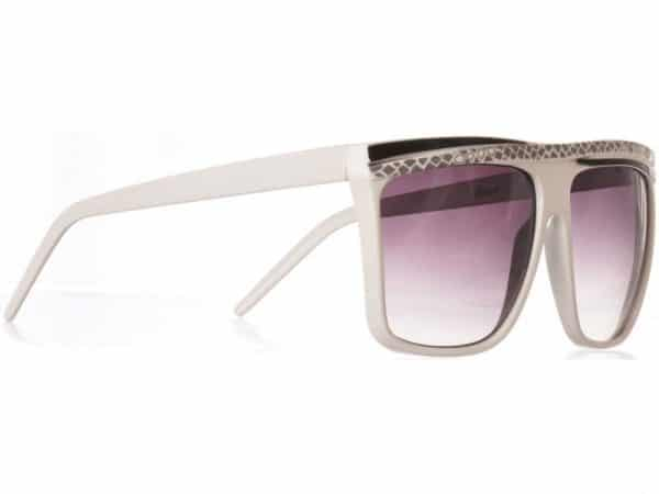 Retro Stripes (hvit) - Retro solbrille
