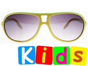Aviator Junior (gul) - Solbriller til barn