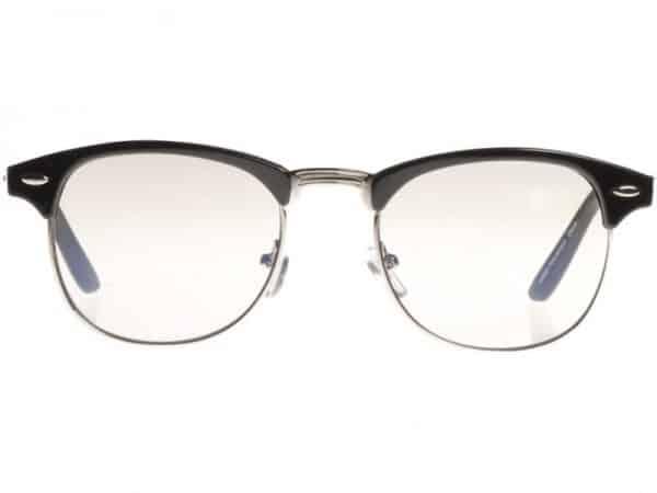 Clubmaster Clear (svart) - Retro solbrille