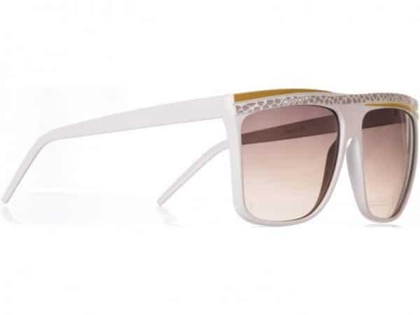 Retro Stripes - (hvit) - Retro solbrille