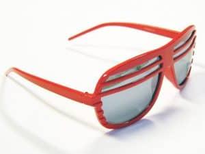 Shutter shades rød - Retro solbrille