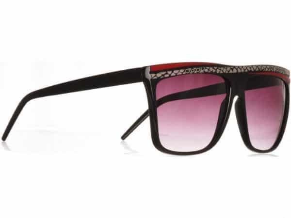 Retro Stripes (svart) - Retro solbrille