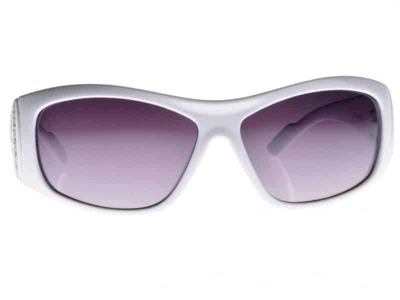 Designersolbrille (hvit) - Fashion solbrille